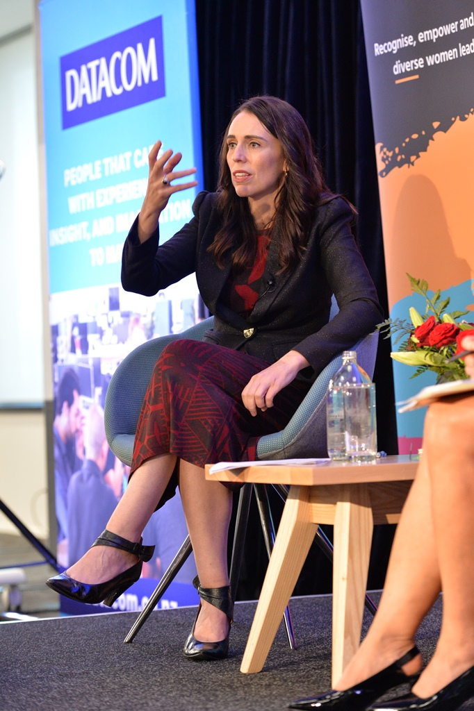 Jacinda Ardern responding to a question